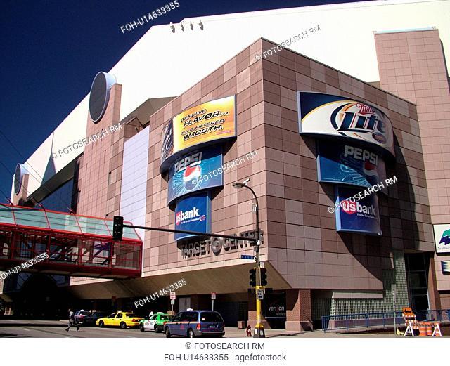 Minneapolis, MN, Minnesota, Twin Cities, Downtown, Target Center, NBA, basketball, Timberwolves