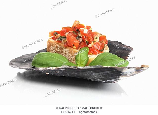 Bruschetta with basil