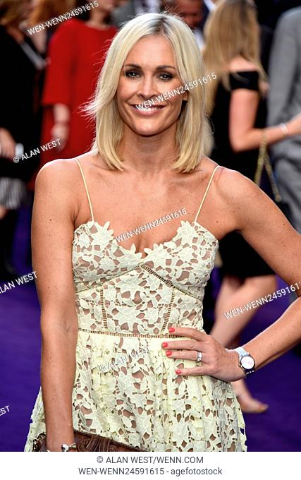 Stars gather for the press night of the new Disney production of Aladdin at the Prince Edward Theatre London Featuring: Jenni Falconer Where: London