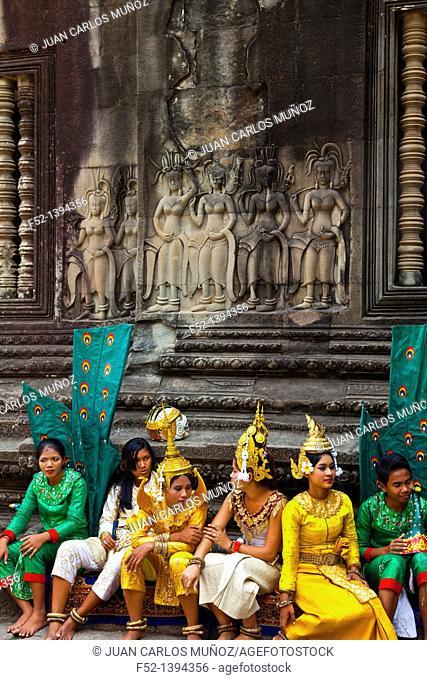 Angkor Wat Temple  Angkor  Siem Reap town, Siem Reap province, Cambodia, Asia