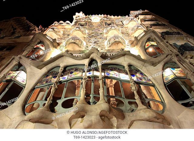 Batlló House, by Gaudí. Barcelona. Spain