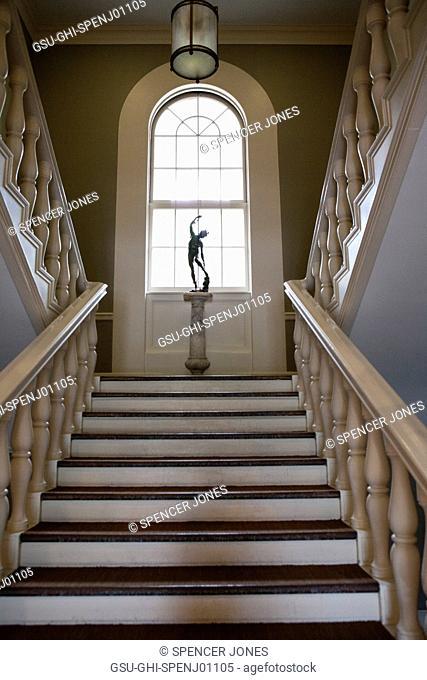 Moulton Union Staircase, Bowdoin College, Brunswick, Maine, USA