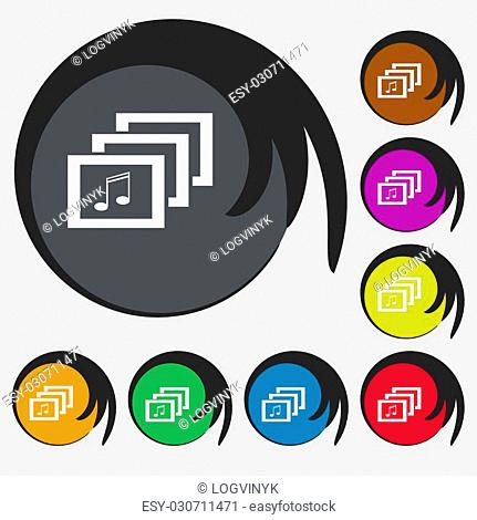 Musical note mp3 mark Stock Photos and Images | age fotostock
