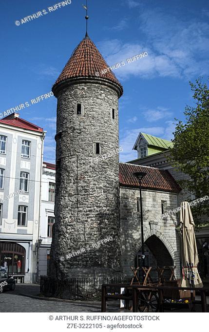 Viru Gate (Viru värav), Tallinn City Walls (Tallinna linnamüür), Old Town, Tallinn, Estonia, Baltic States