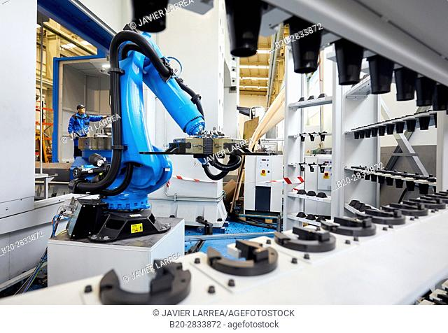 Robot tool changer, Machining Centre, CNC, Vertical lathe, Design, manufacture and installation of machine tools, Gipuzkoa, Basque Country, Spain