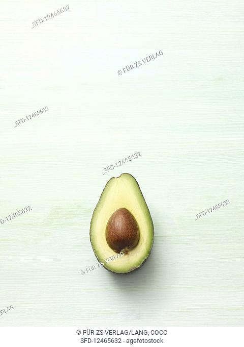 Halved Avocado with Pit