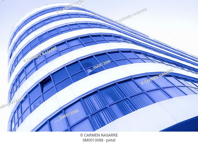 Building facade in blue