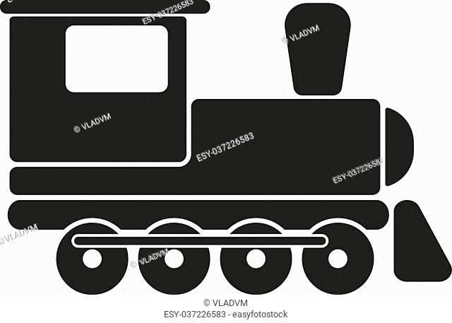 The train icon. Travel symbol. Flat Vector illustration