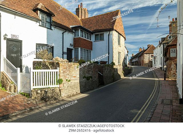 Morning in the historic village of Alfriston, East Sussex, England. Cuckmere Valley, South Downs National Park