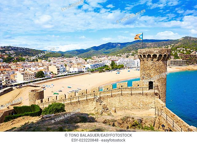 Tossa de Mar castle in Costa Brava of Catalonia Spain