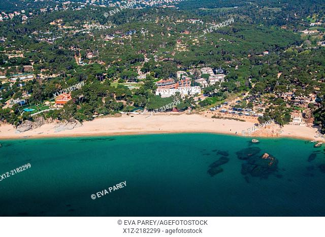 Roques Planes Beach in Platja d'Aro. Costa Brava