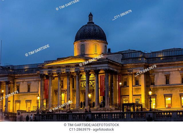 national gallery; london; england; uk;