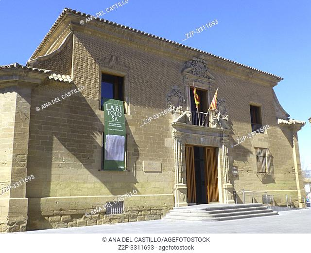 HUESCA ARAGON SPAIN ON MARCH 15, 2019. Museum of Huesca