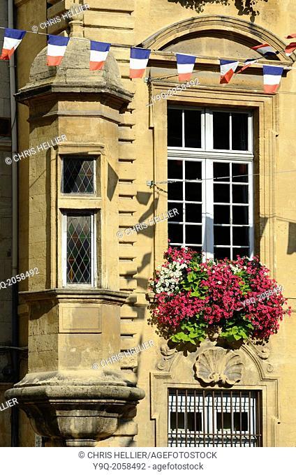 Medieval Window & Facade Town Hall Salon-de-Provence France