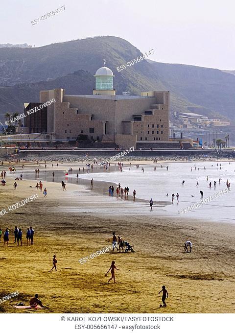 Las Canteras Beach in Las Palmas, Canary Islands, Spain