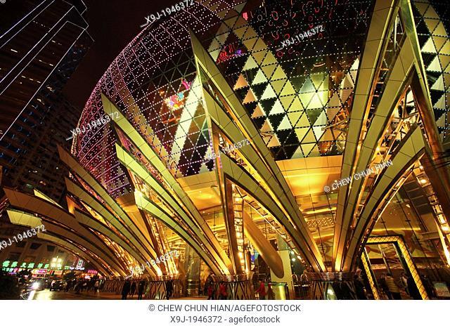 Entrance to the Grand Lisboa Casino, Macau, China, asia