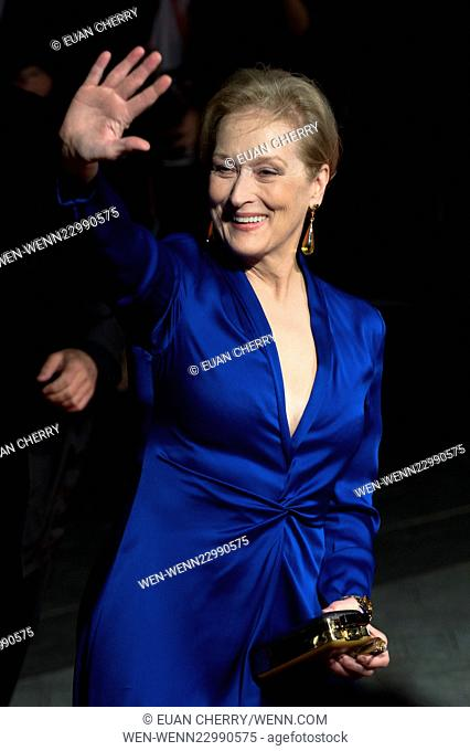 BFI London Film Festival opening night premiere of 'Suffragette' - Arrivals Featuring: Meryl Streep Where: London, United Kingdom When: 07 Oct 2015 Credit: Euan...