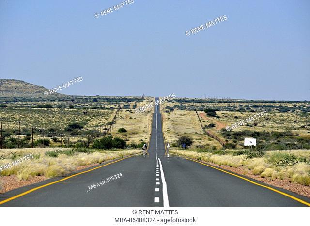 Namibia, Kalahari desert, road