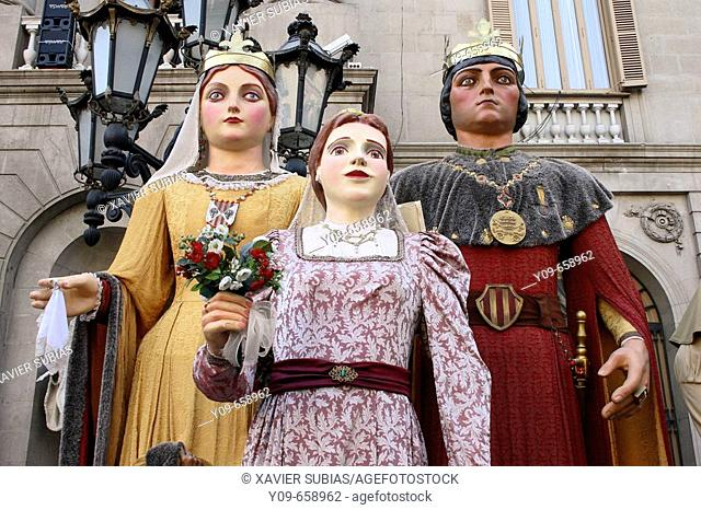 Giants. Mercè festivals. Barcelona. Spain