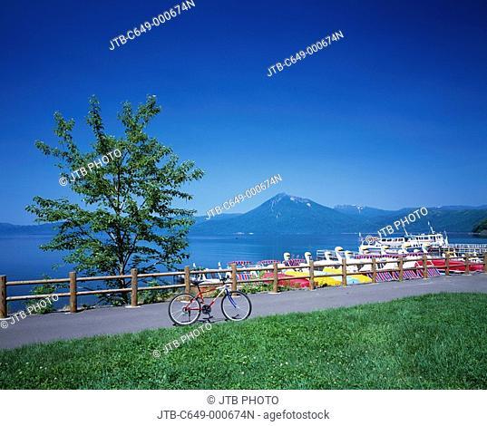 Bicycle Boat Tourist Ship Lake Shikotsu Chitose Hokkaido South Hokkaido Japan
