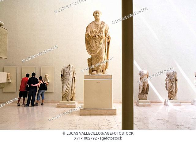 Museum of Cádiz, Roman sculptures, the biggest is Trajano  Cádiz, Andalusia, Spain