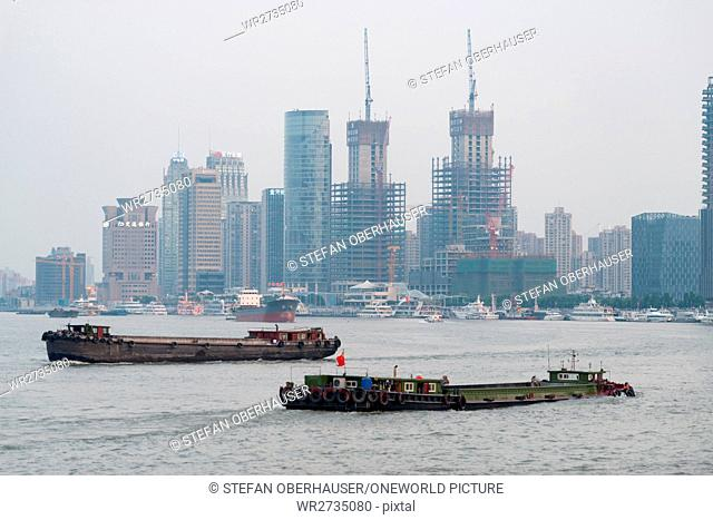 China, Shanghai, Shanghai high-rise building sites