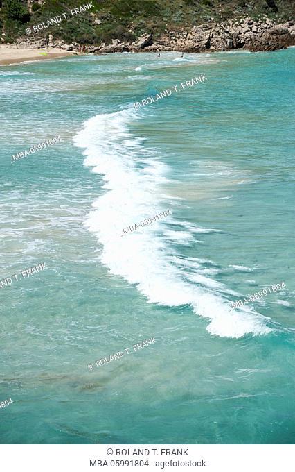 Italy, Sardinia, Santa Teresa di Gallura with the sandy beach Rena Bianca