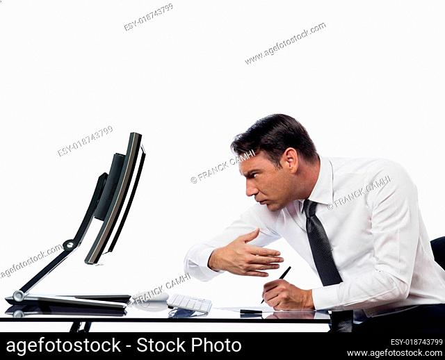 Man relationship with computer breakdown