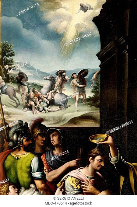 Baptism of St Paul, by 16C Anonymous Artist, 16th Century, . Italy, Piemonte, Alessandria, Bosco Marengo, Santa Croce Church and Monastery