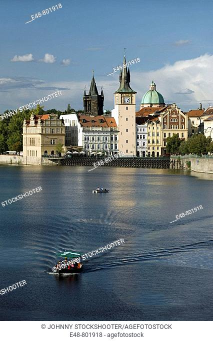 Smetana museum old water tower vltava river old town mala strana. Prague. Czech Republic