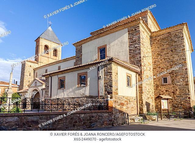 Church in Villares de Orbigo, Way of St. James, Leon, Spain