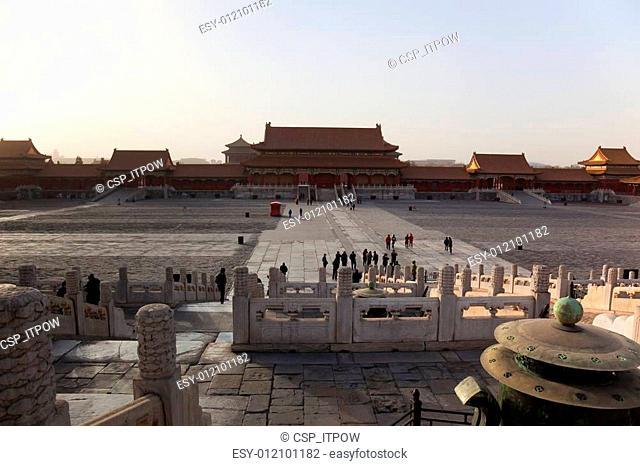 Gate of Supreme Harmony. Forbidden City. Beijing. China