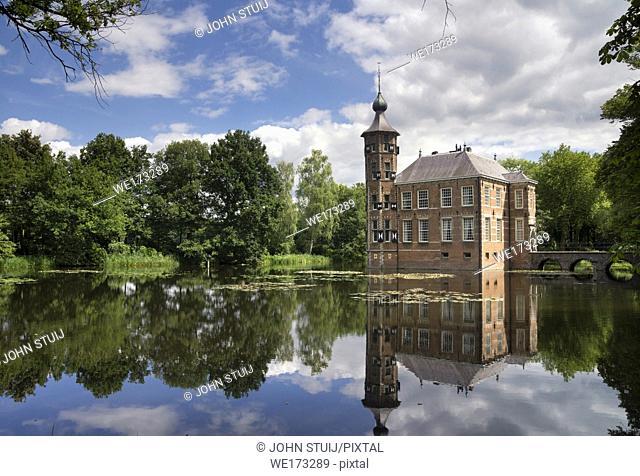 Bouvigne castle near the Dutch town Breda seen from the surrounding park