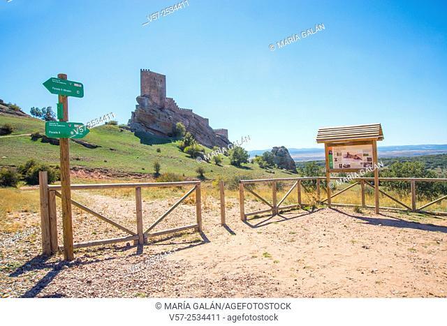 Zafra castle. Campillo de Dueñas, Guadalajara province, Castilla La Mancha, Spain. Location for Game of Thrones TV series shooting