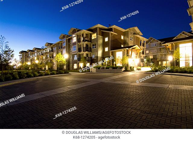 townhouse development in Burnaby, BC, Canada