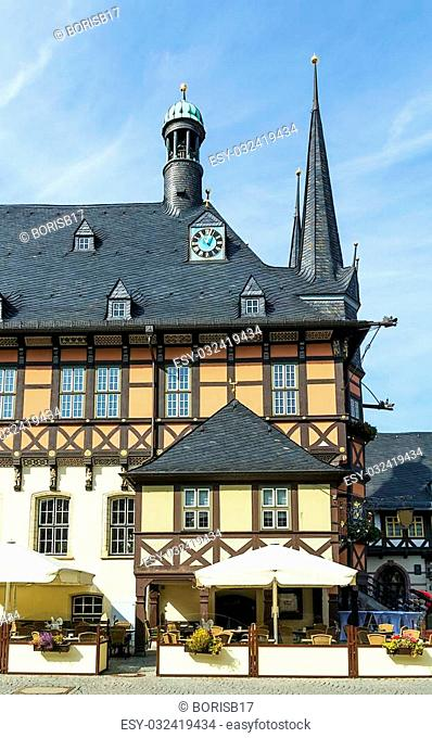 The town hall — one of the most known monuments of architecture in Germany, is a symbol to Wernigerode
