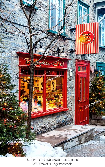 Small store in the Rue Petit Champlain in Quebec City, Canada