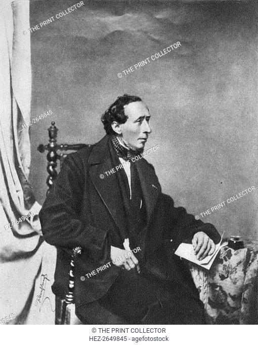 'Hans Andersen', 1860, (1939). Artist: Franz Seraph Hanfstaengl