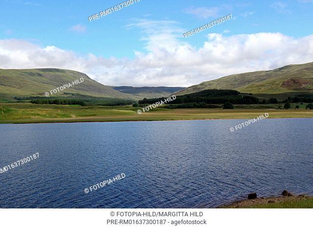 Spey Reservoir near Laggan, Badenoch, Cairngorms National Park, Central Highlands, Highlands, Scotland, United Kingdom / Spey Reservoir bei Laggan, Badenoch