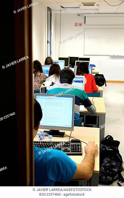 Classroom. School of Business, UPV, EHU, University of Basque Country, San Sebastian, Donostia, Gipuzkoa, Basque Country, Spain