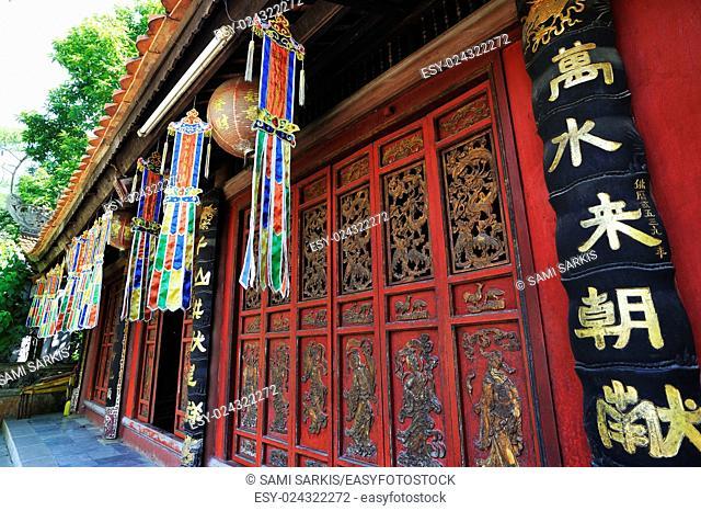 Decorated Pavillion at the Perfume Pagoda near Hanoi, Vietnam, Southeast Asia
