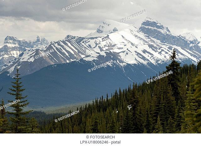 Mountain range, Jasper National Park, Alberta, Canada