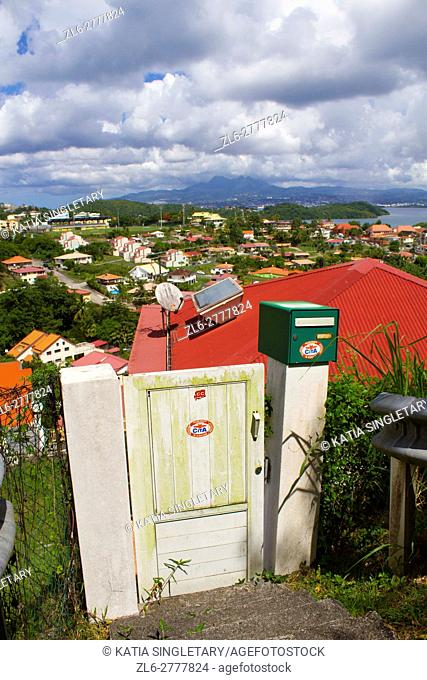 Town and country road of les trois ilets in Martinique