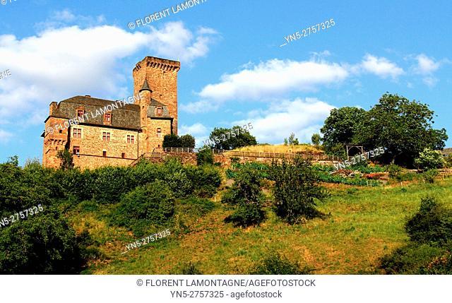 Château castle of Servayrie in Mouret, Aveyron, Occitanie, Midi, Pyrénées