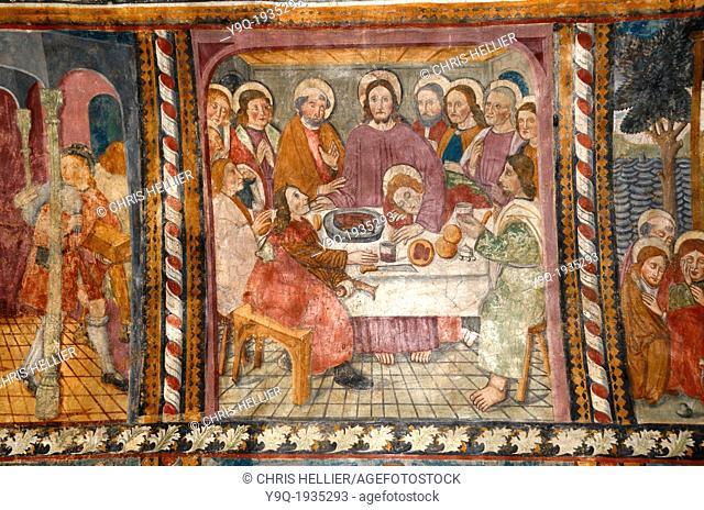 Last Supper Fresco Chapel of White Penitents La Tour Alpes-Maritimes France