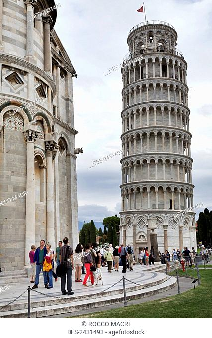 Leaning Tower of Pisa; Pisa, Tuscany, Italy