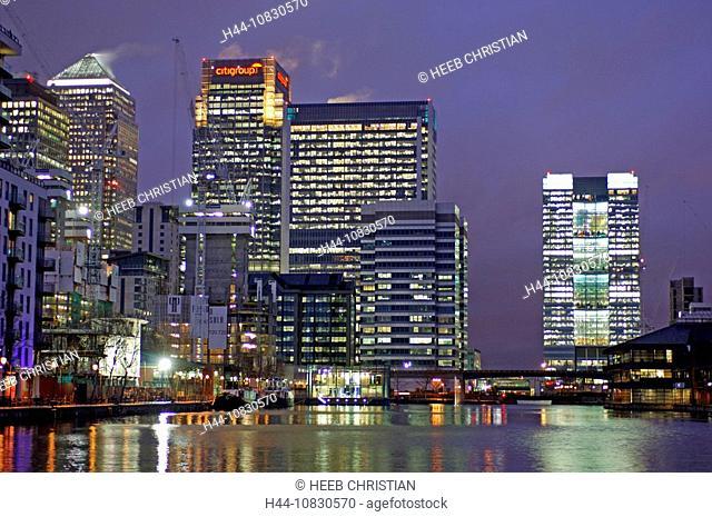 UK, London, Canary Wharf, Docklands, Great Britain, Europe, United Kingdom, England, Europe, City, Skyline, Skyscraper