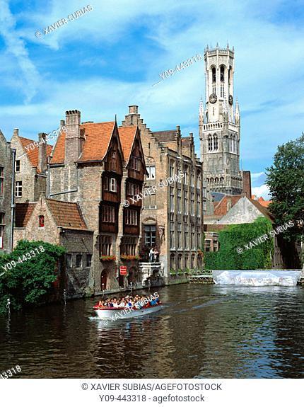 Rozenhoedkaai (Quay of the rosary), Brugge, Belgium
