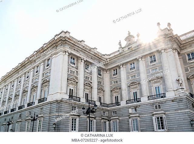 Madrid, Palacio Real, Royal Palace, sunbeams