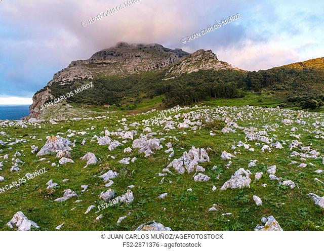 Mount Candina (489 m) - Monte Candina, Liendo Valley, Cantabria, Spain, Europe